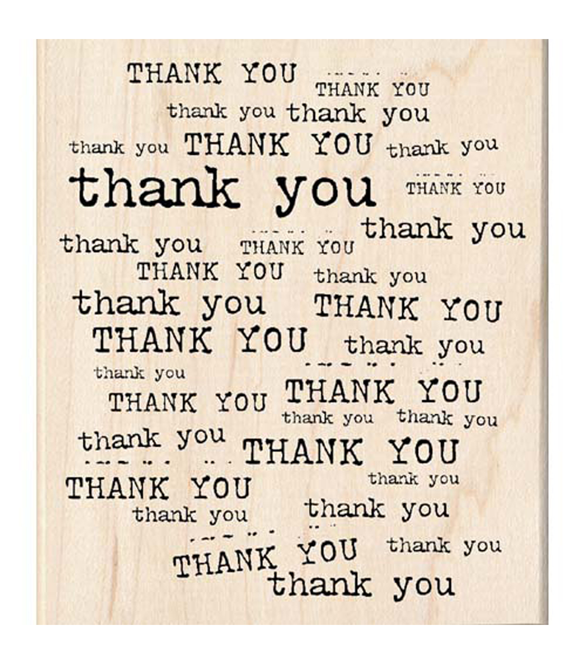 Inkadinkado Thank You Background Stamp