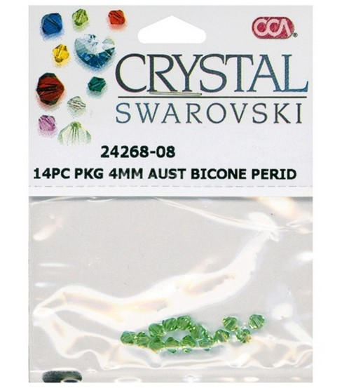 Cousin Crystal Swarovski 4mm Bicone Beads-14Pk
