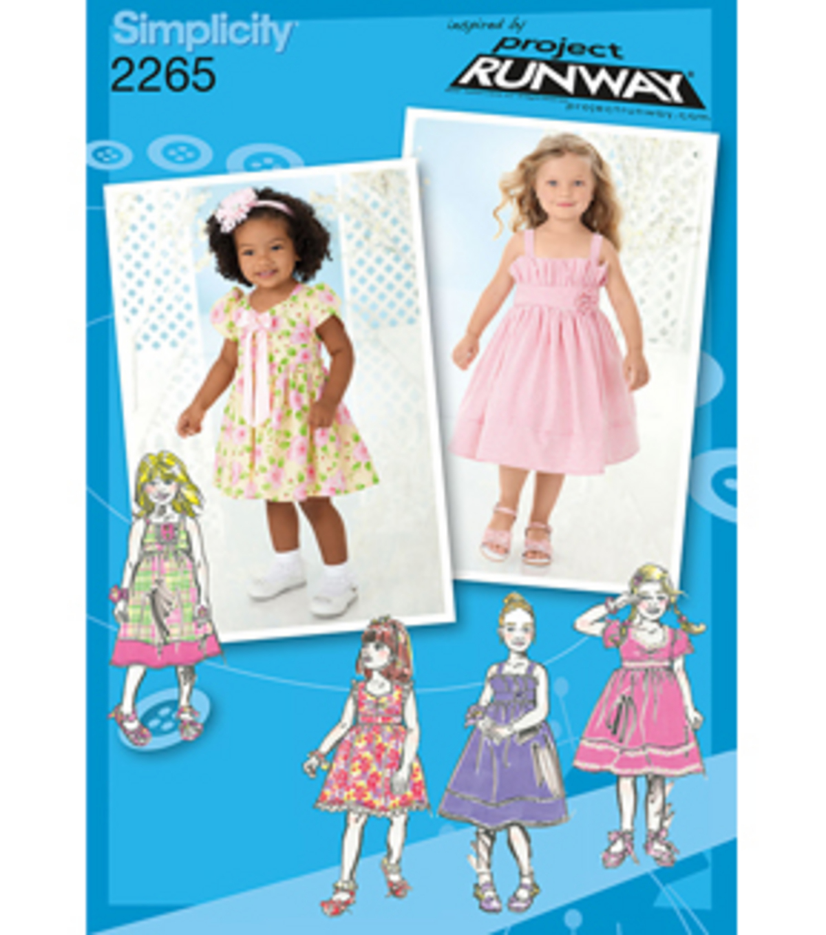 Simplicity Pattern 2265BB 4-5-6-7-8 -Simplicity Toddlers