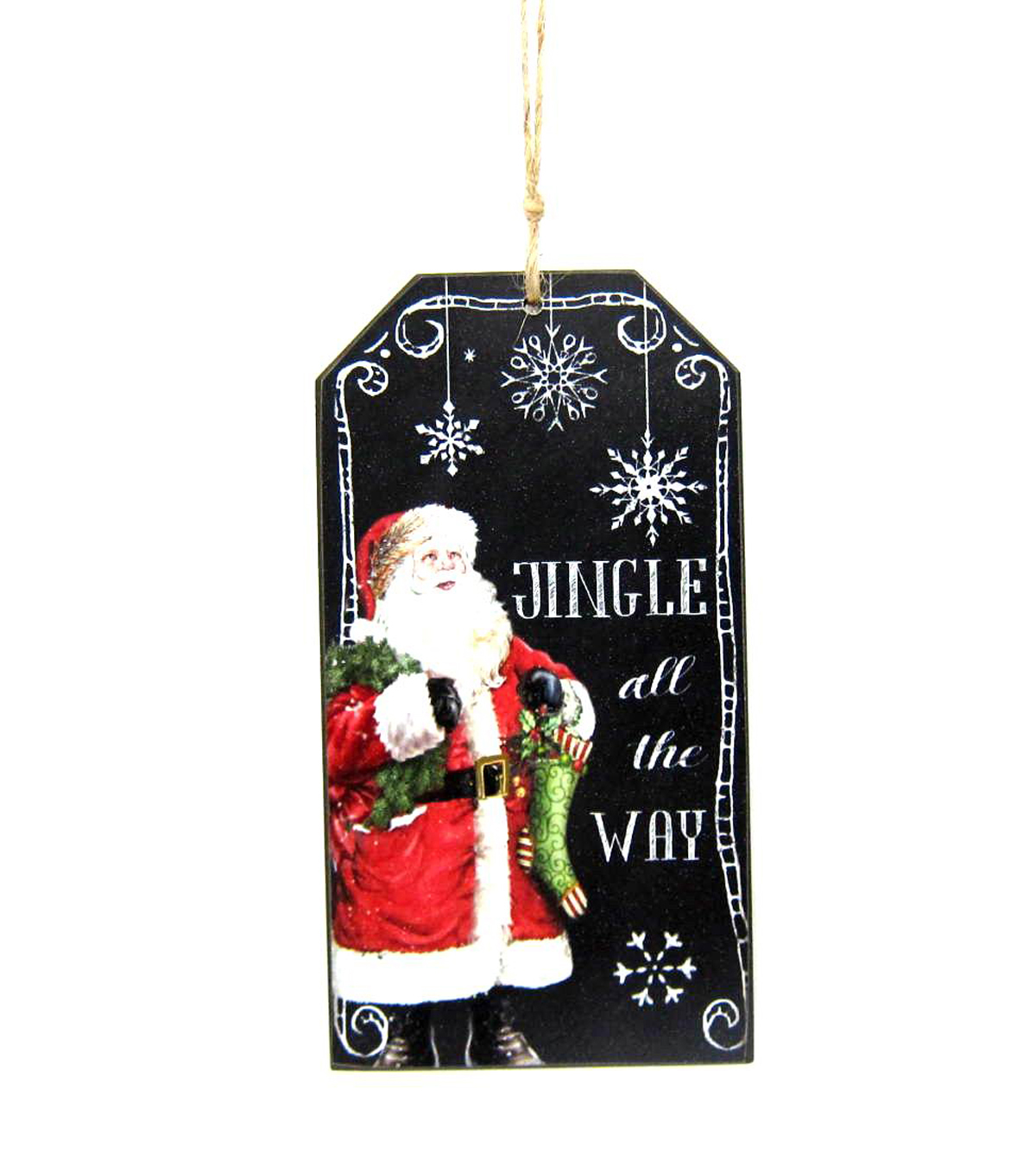 Maker\u0027s Holiday Jingle All the Wall Chalkboard Ornament