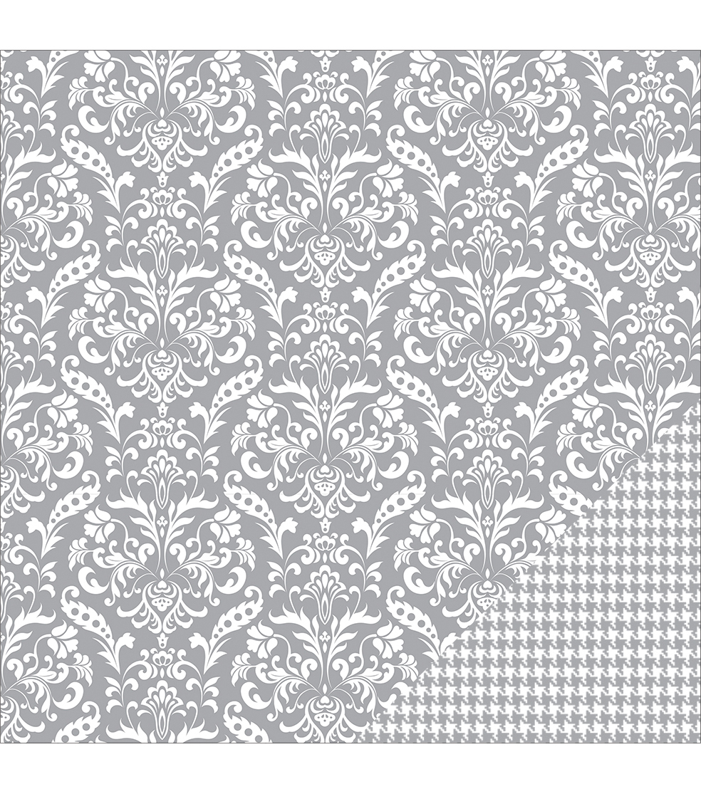 American Crafts Basics Damask Double-Sided Cardstock