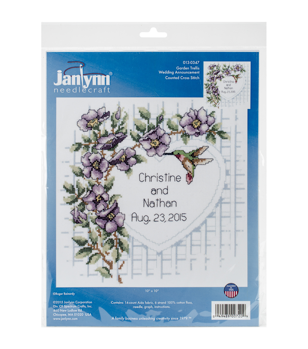 Janlynn® 10\u0022x10\u0022 Counted Cross Stitch Kit-Garden Trellis