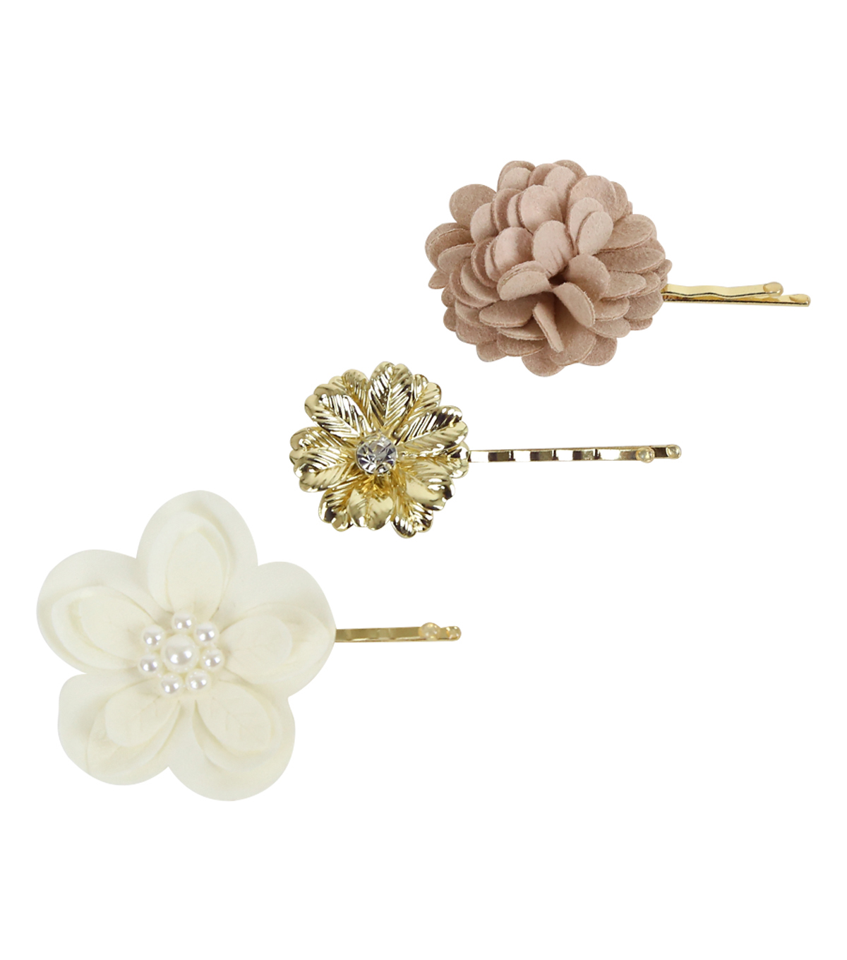 Save The Date™ Pack of 3 2.5\u0027\u0027 Floral Bobby Pin