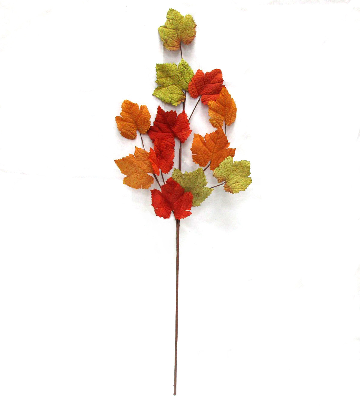 Blooming Autumn 32'' Maple Leaves-Orange & Green
