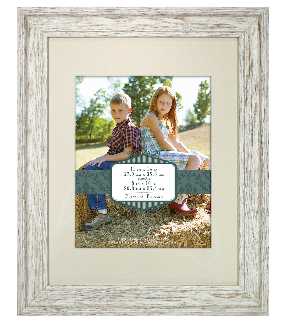 Wall Frame 11X14 To 8X10-Distressed Cream