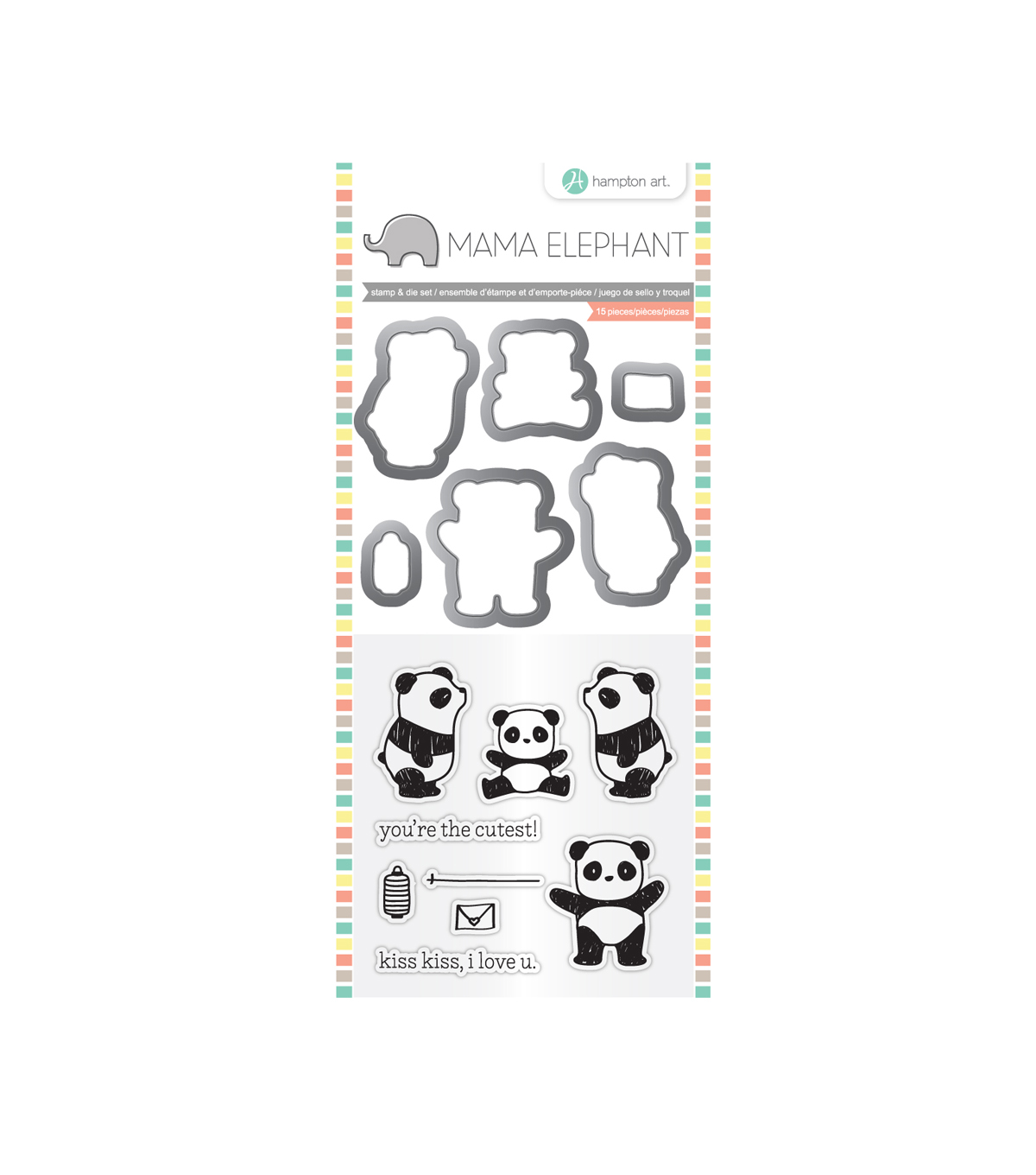 Mama Elephant Clear Stamp & Die Set-Panda