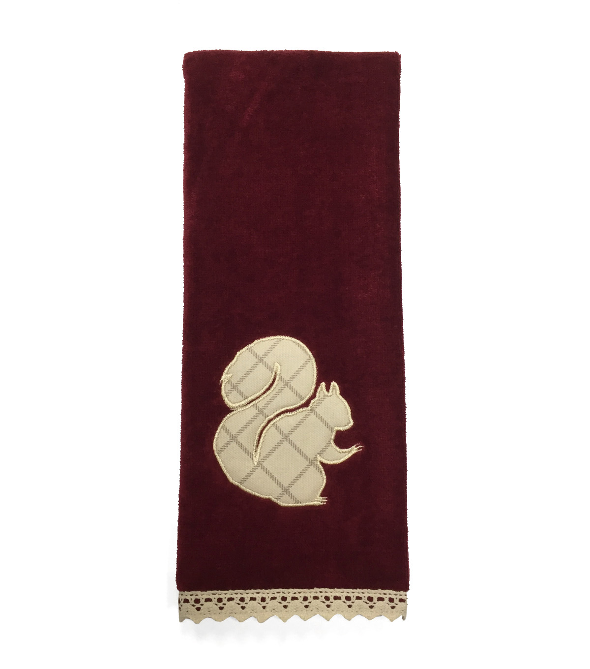 Fall Into Color 16\u0027\u0027x28\u0027\u0027 Velour & Terry Hand Towel-Squirrel Applique