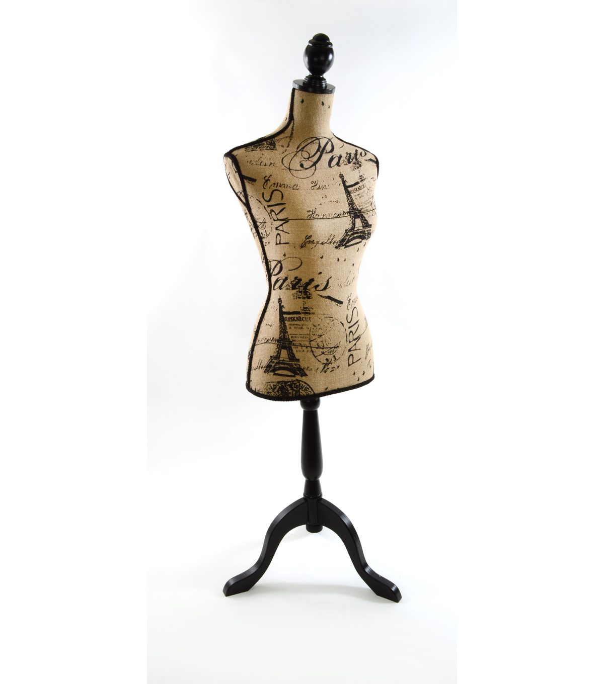 Decorative Burlap Dressform- Paris Print | JOANN