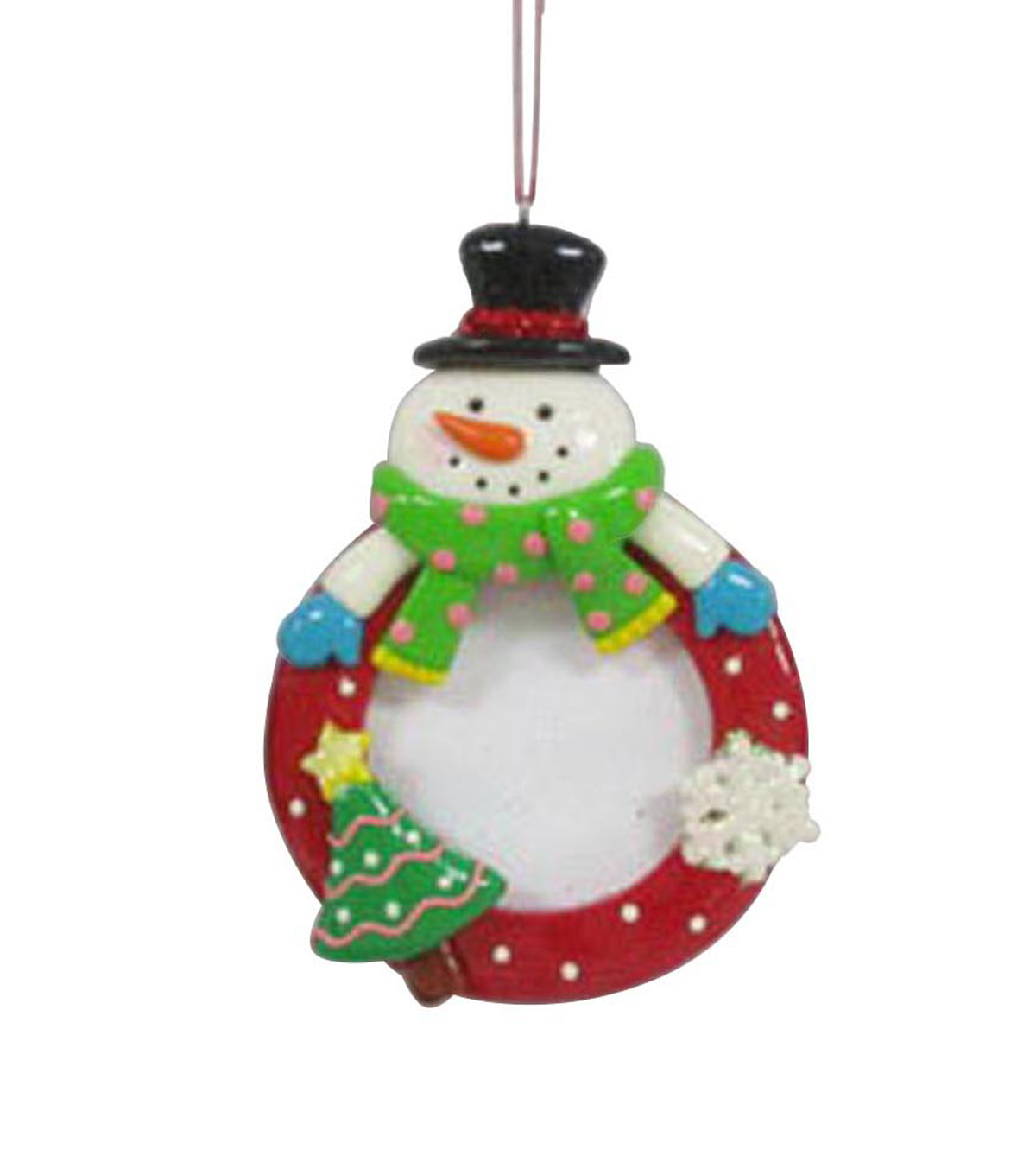 Maker\u0027s Holiday Snowman Frame Ornament