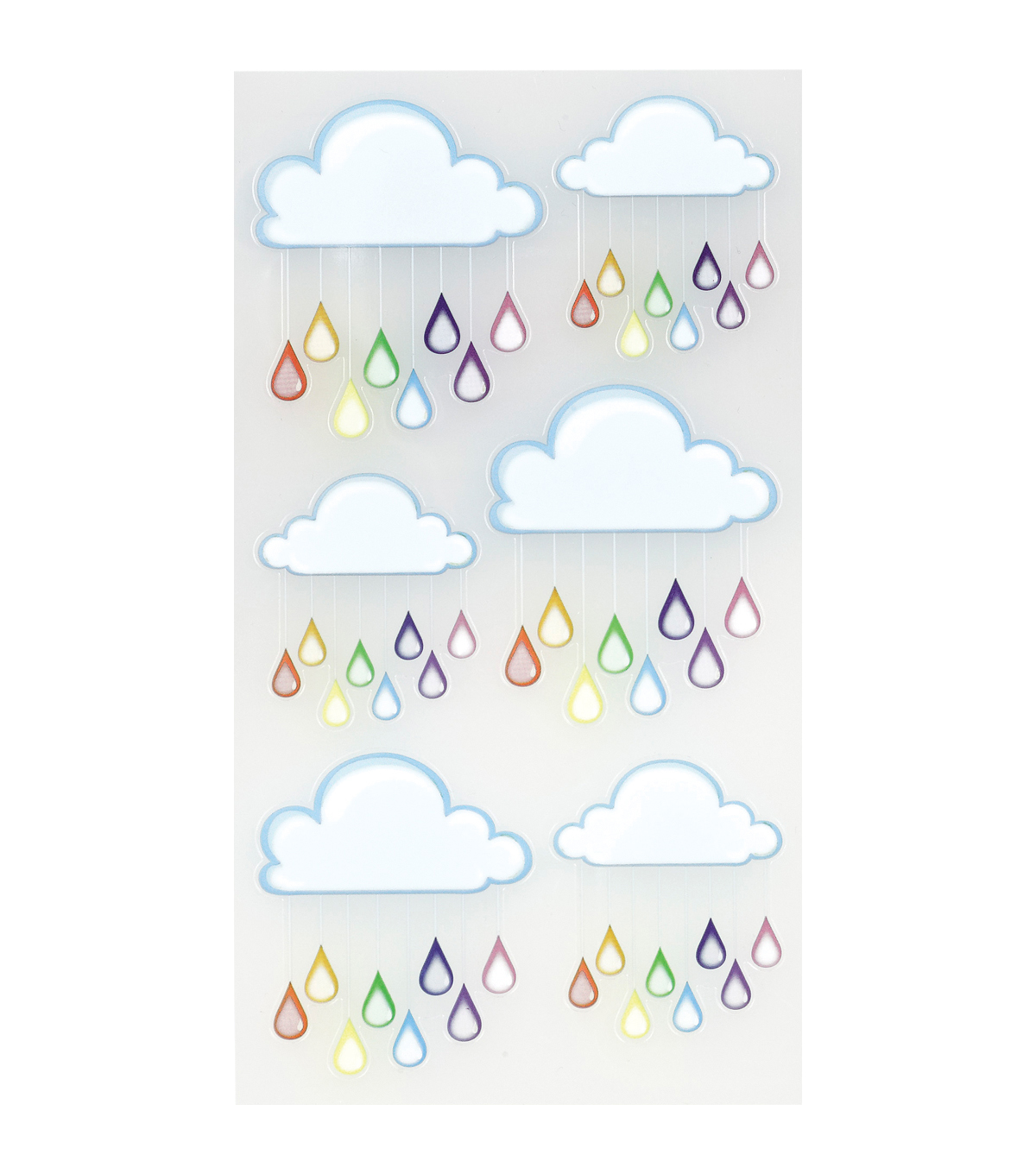 Sticko Classic Stickers Rainbow Clouds