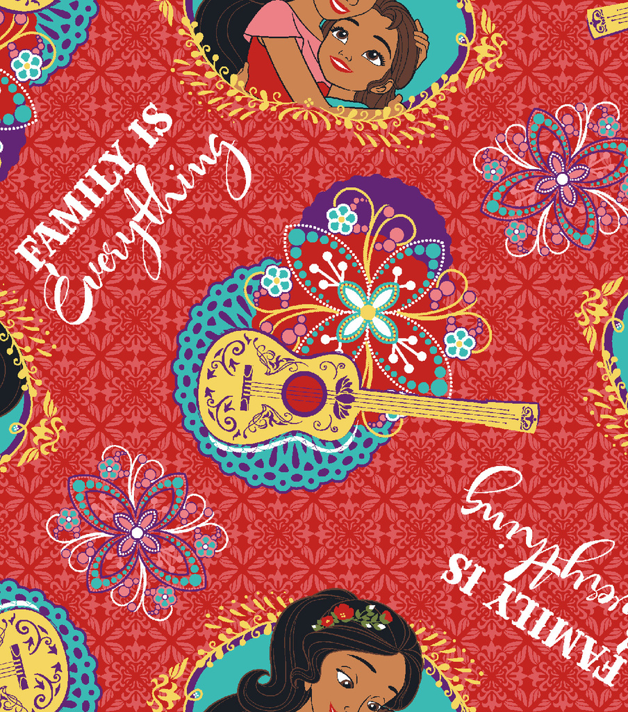 Disney® Elena of Avalor Cotton Fabric 43\u0027\u0027-Family Is Everything