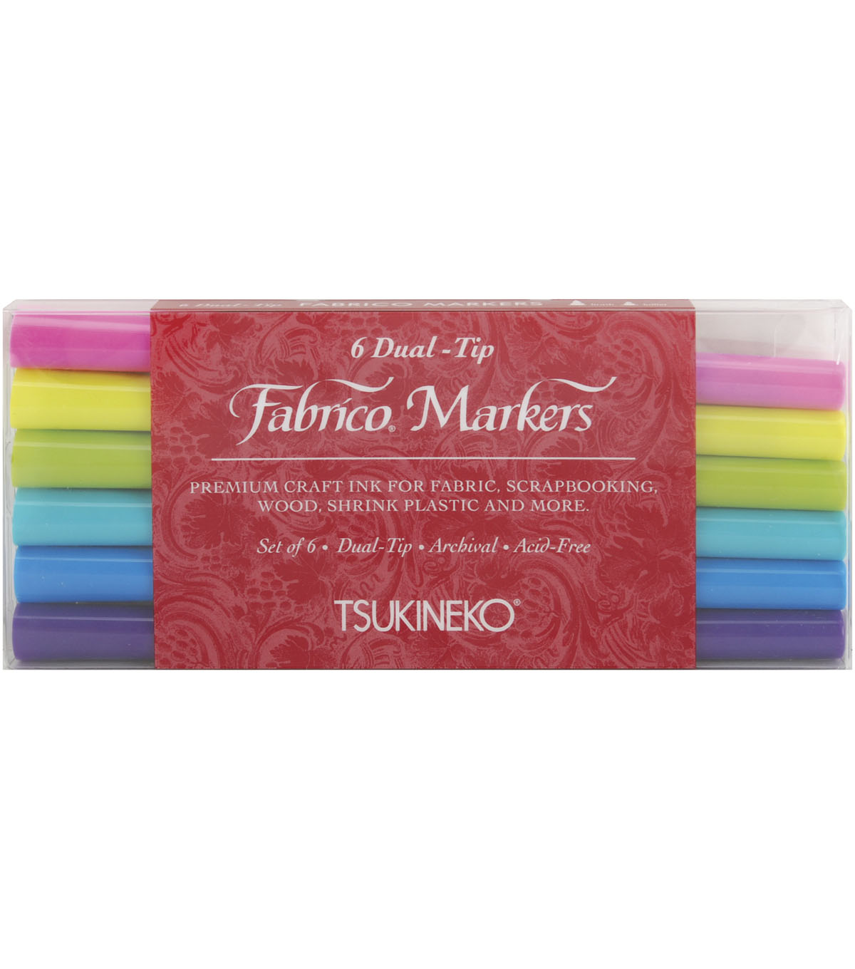 Fabrico Dual-Tip Multi-Purpose Marker Set-6PK