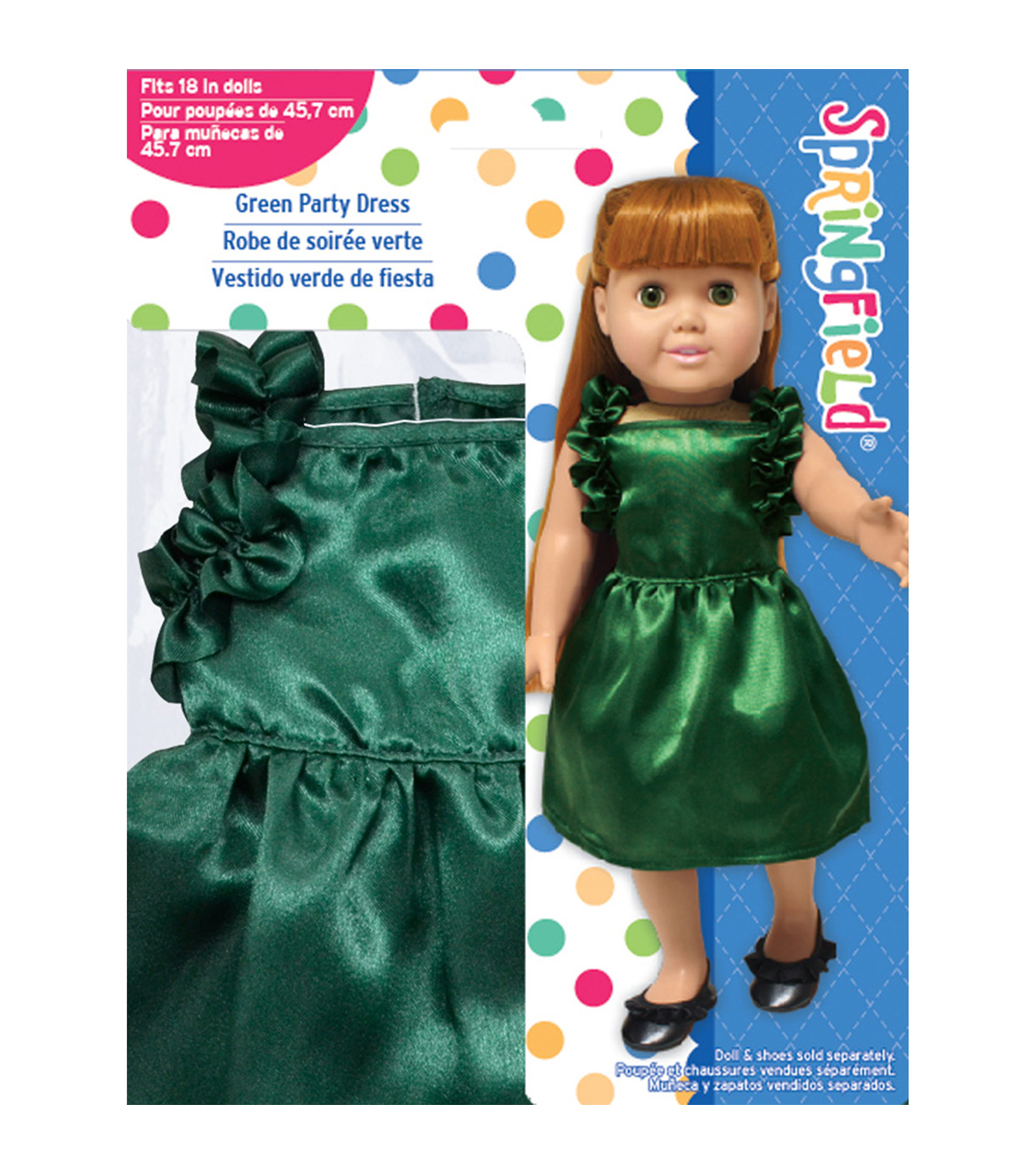Springfield Boutique Hunter Green Ruffled Dress