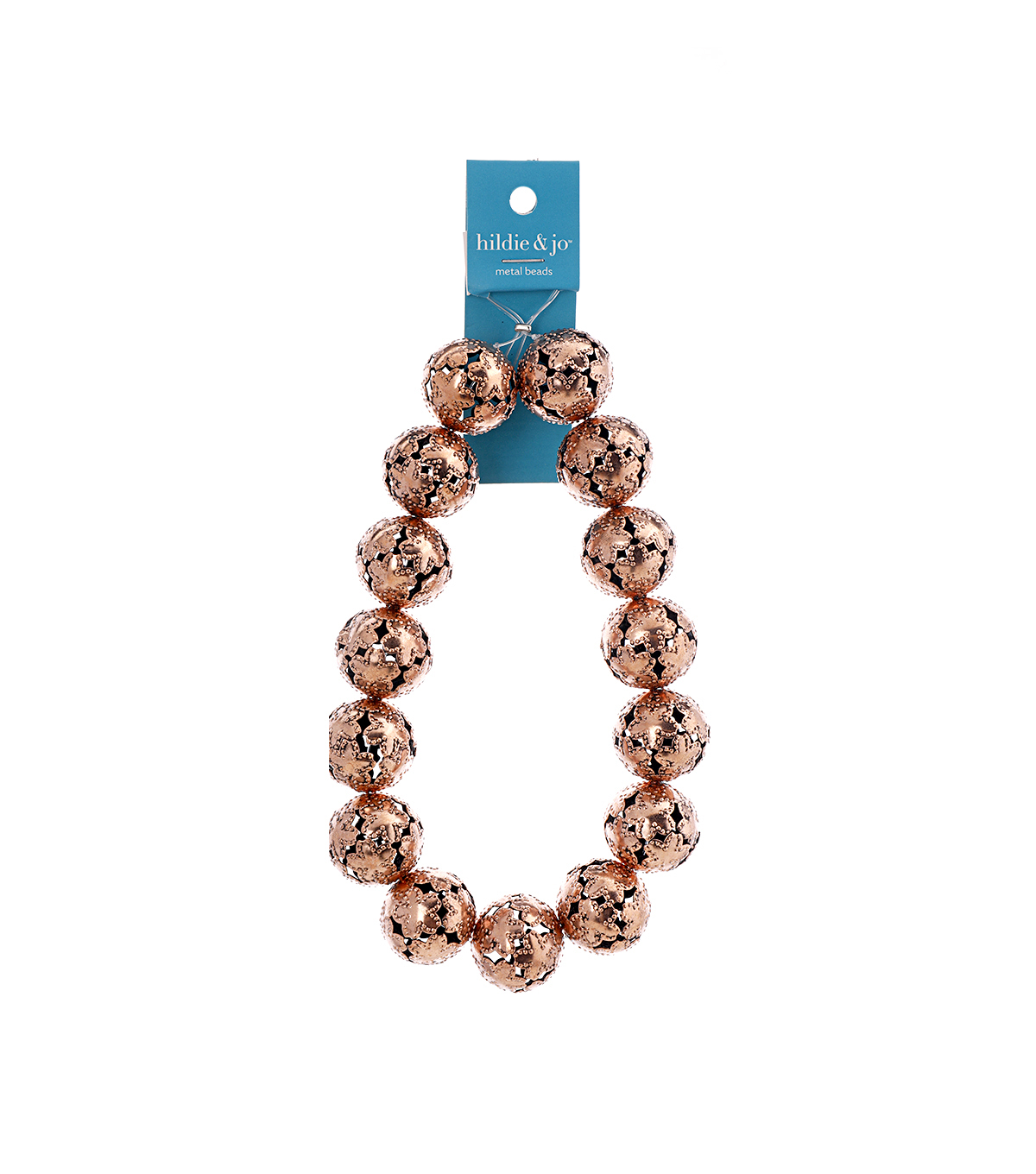 Blue Moon Strung Filigree Metal Beads,Round,Copper,Cutout