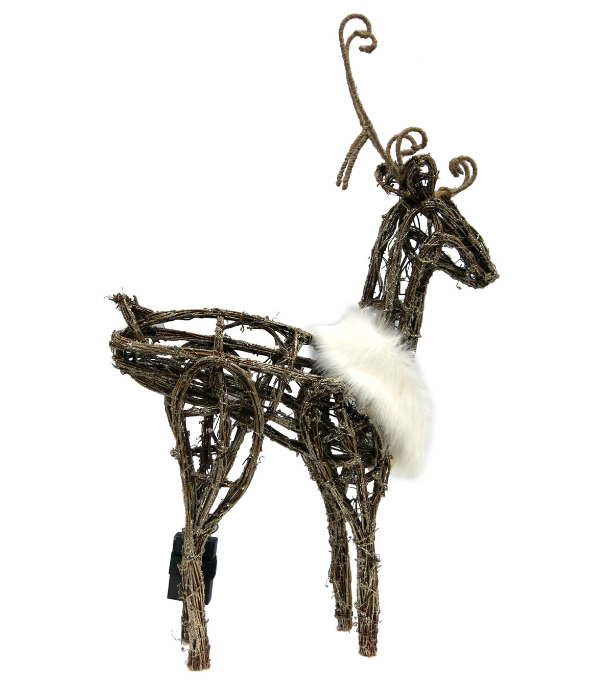 Sparkling Woodland Lighted Standing Deer Looking Up