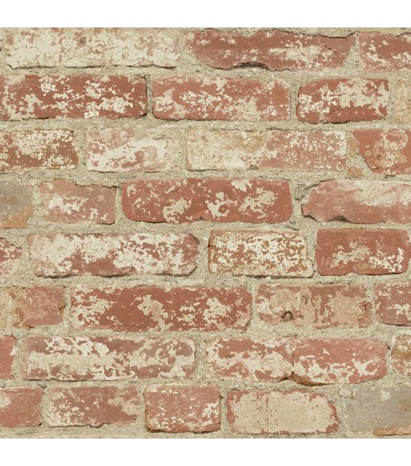 York Wallcoverings Peel & Stick Wall Décor-Stuccoed Red Brick