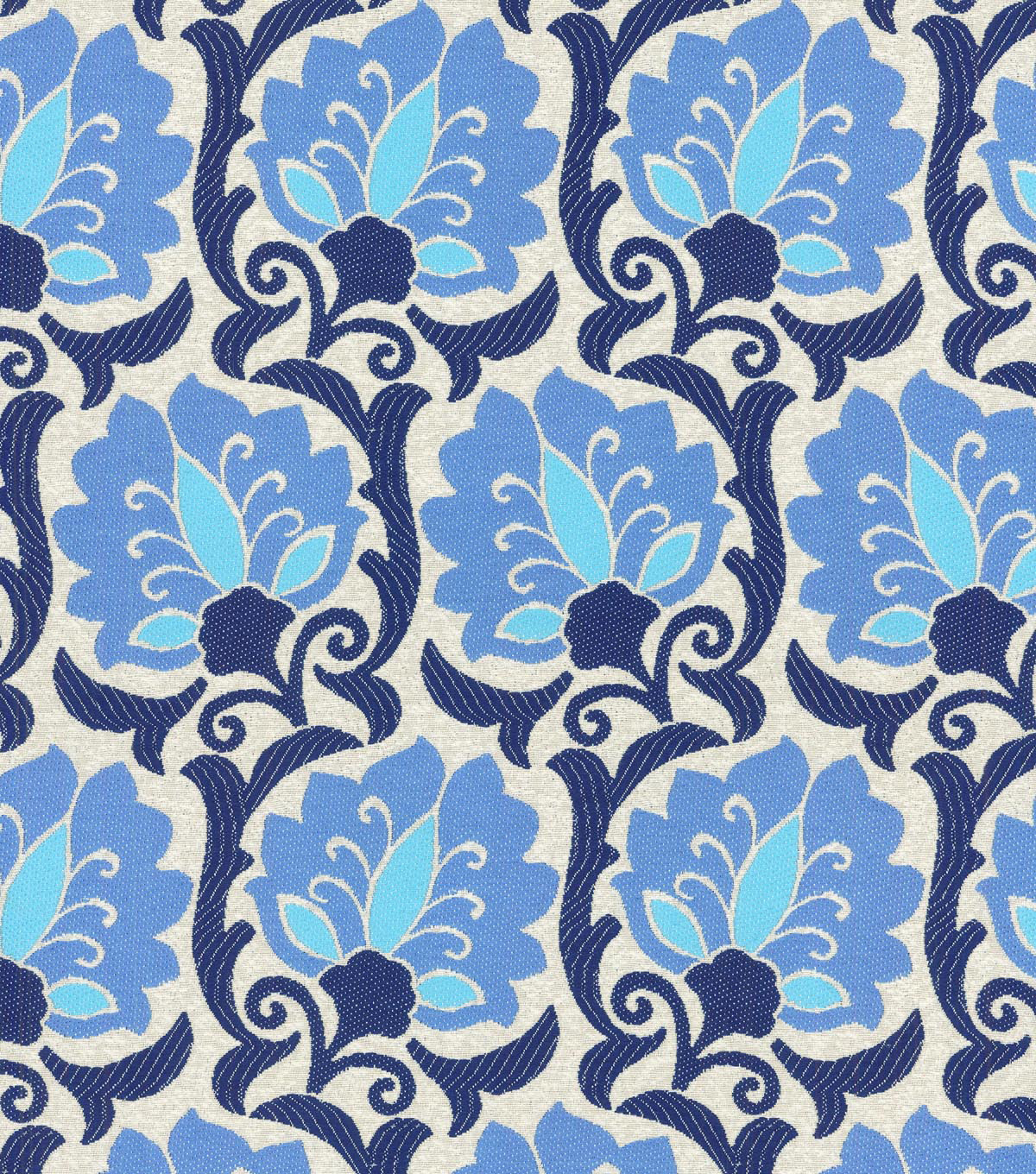 "Home Decor 8""x8"" Swatch Fabric-Waverly Playful Prose Indigo"