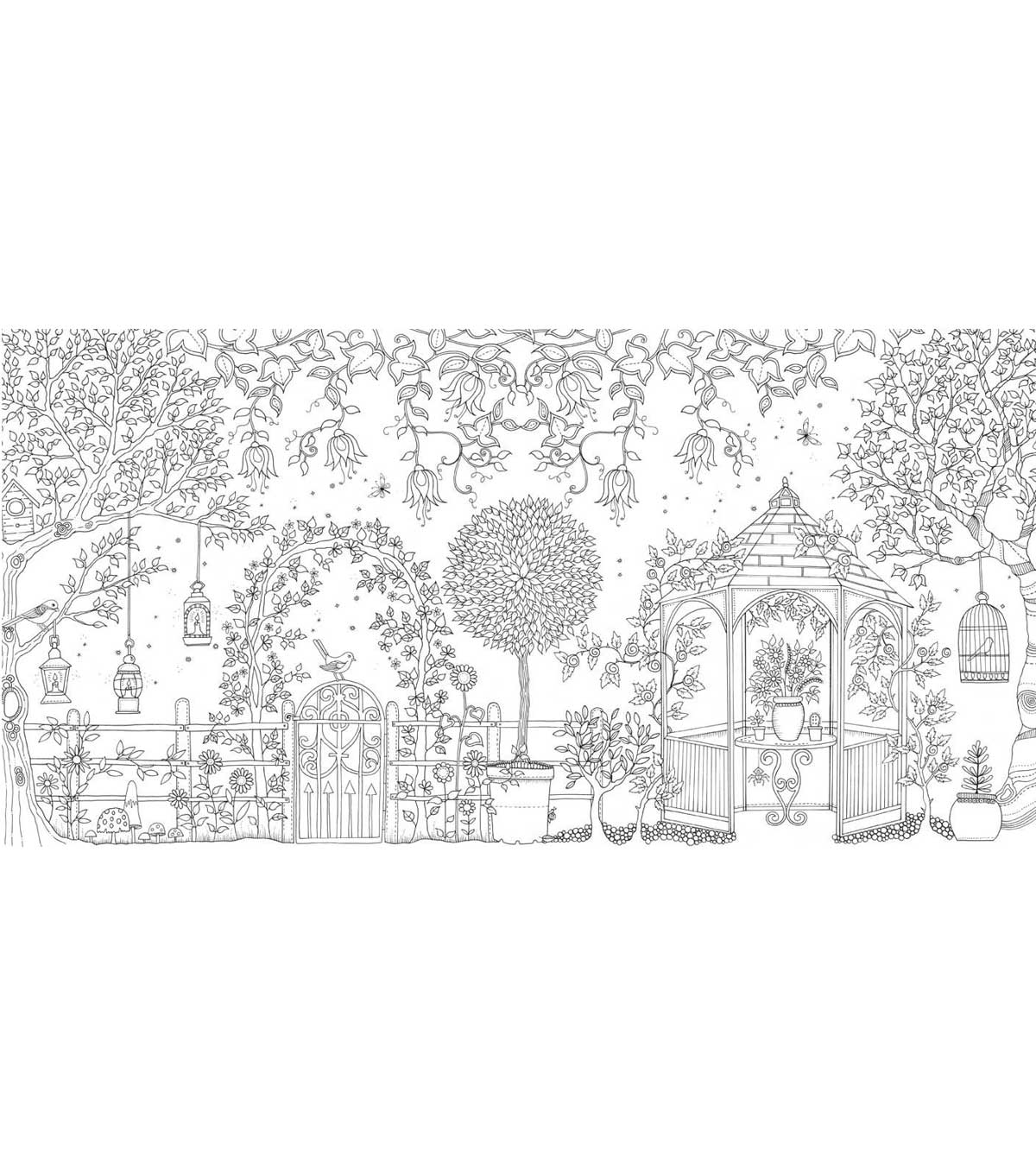 secret garden coloring pages completed operations   Secret Garden Coloring Book - Chronicle Books   JOANN