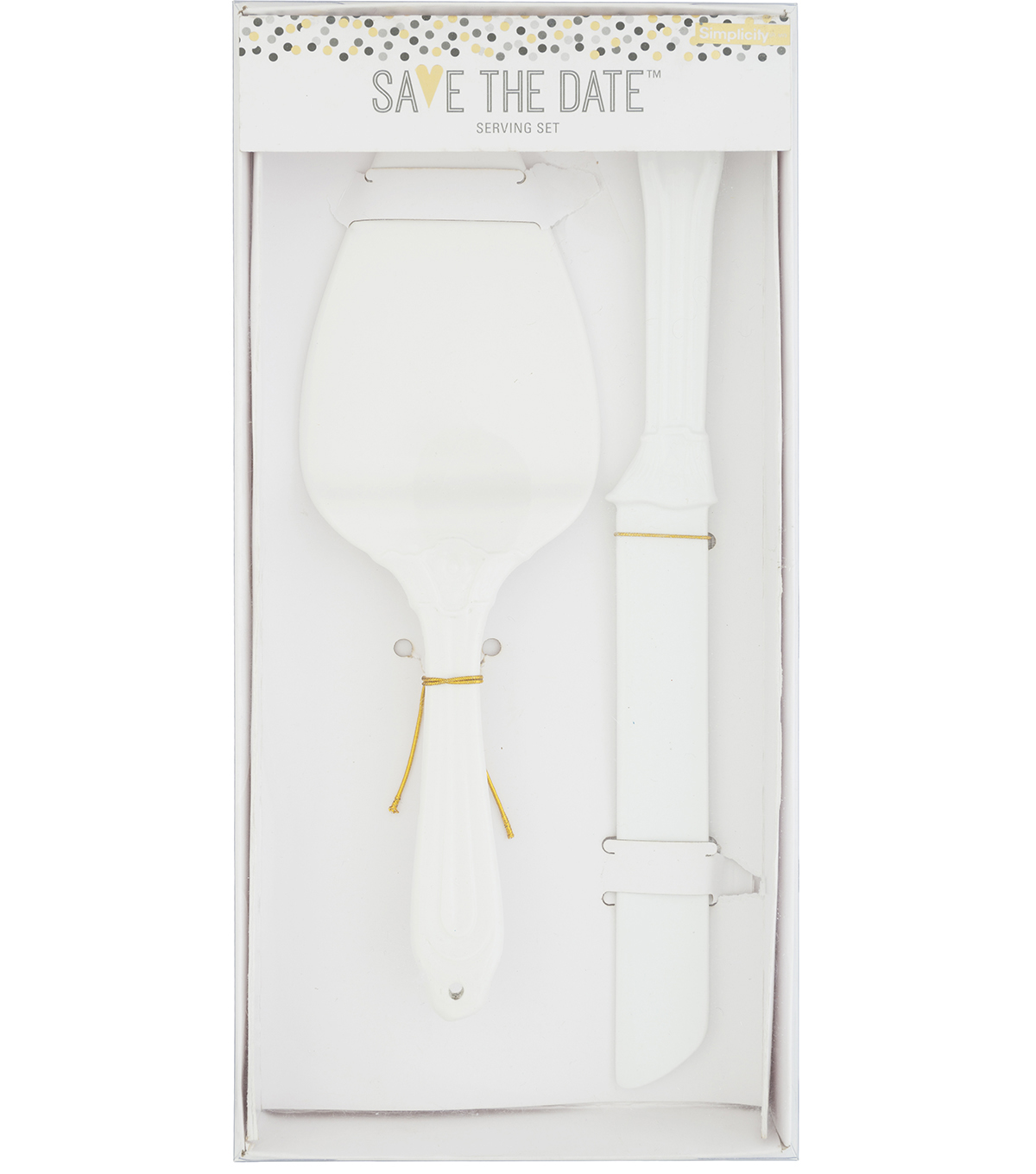 Save The Date Serving Set-White