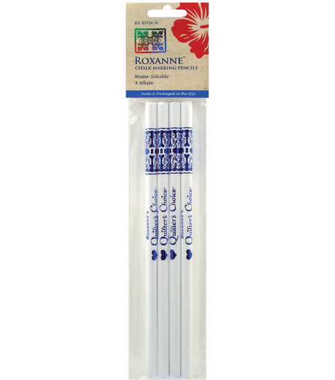 Roxanne Quilter\u0027s Choice Marking Pencils 4/Pkg-White