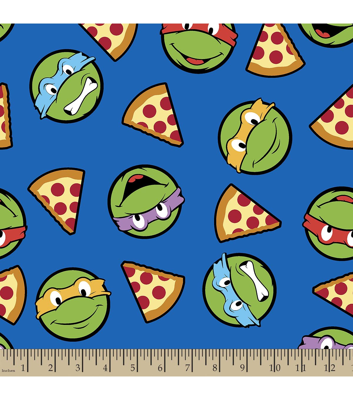 Teenage Mutant Ninja Turtles Print Fabric-Turtles and ...