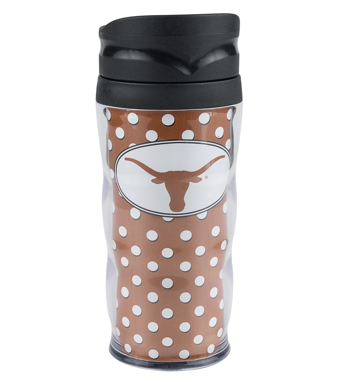 University of Texas Longhorns Polka Dot Travel Mug