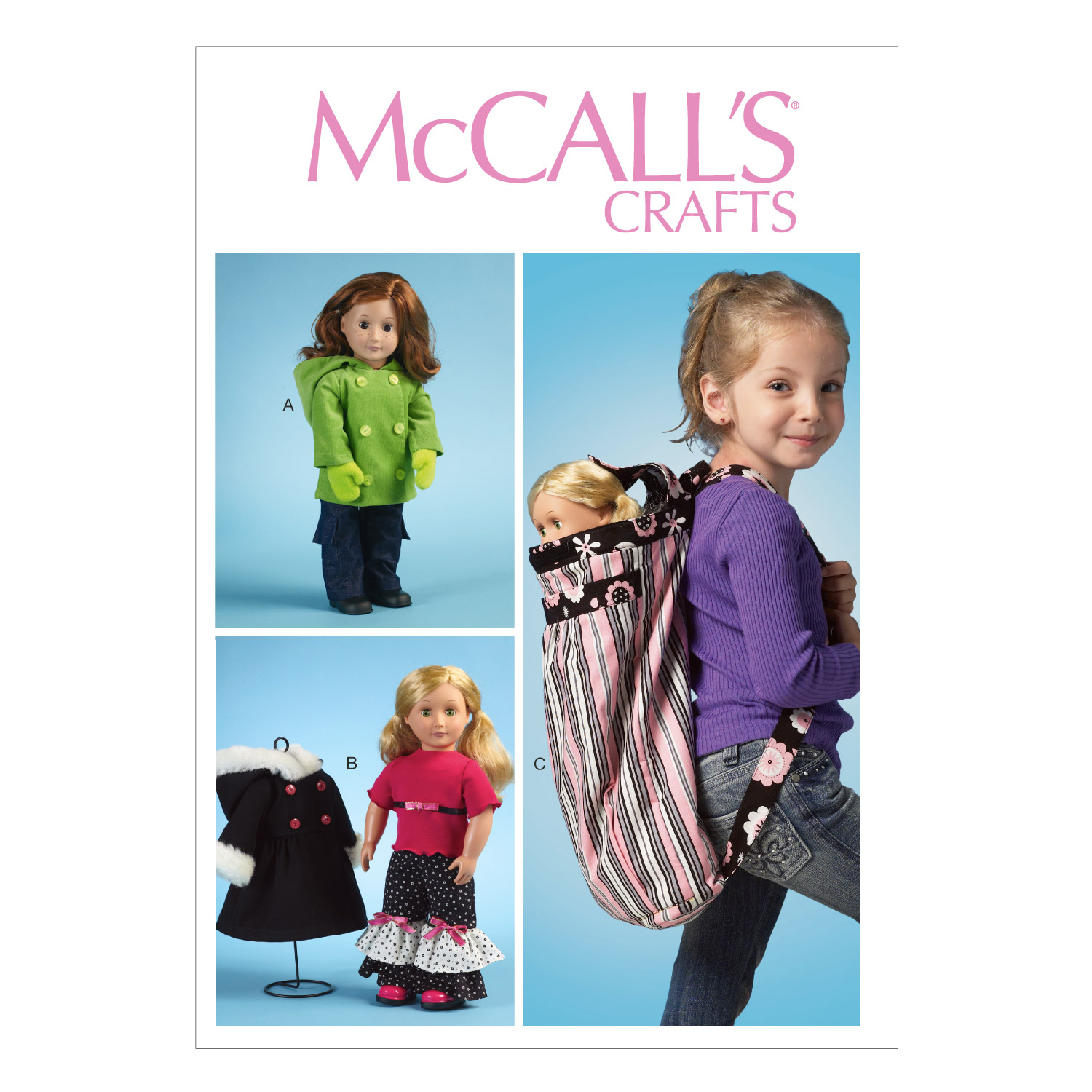 McCall\u0027s Crafts Doll Clothes-M6854