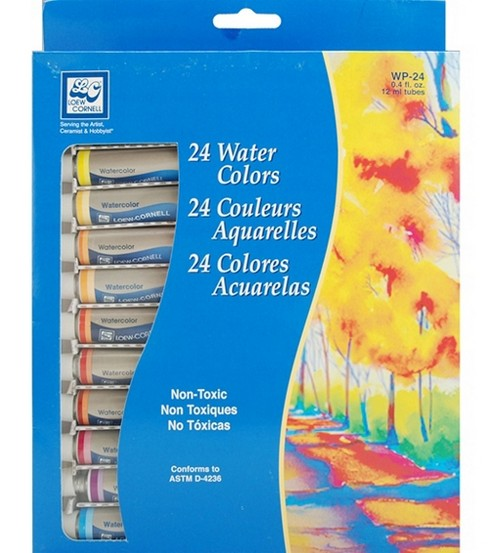 Loew Cornell Watercolor Paint Set 12ml 24Pk