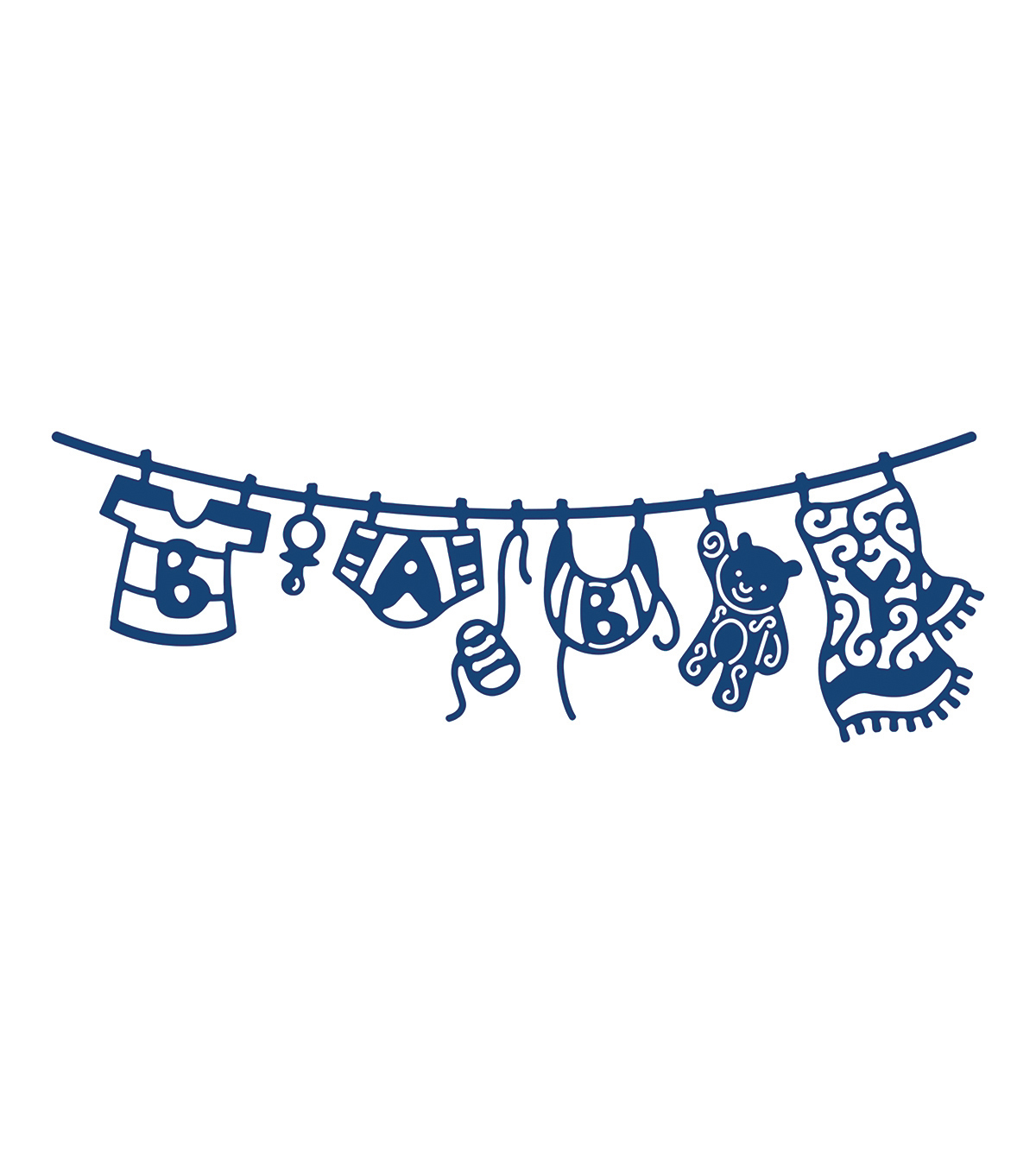 Tattered Lace Metal Die-Washing Line Baby Boy