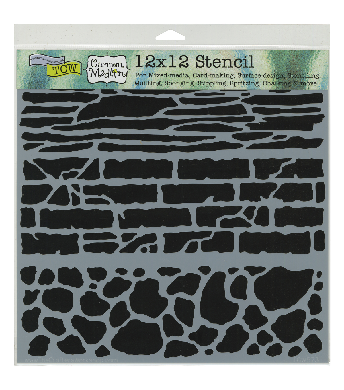 Crafter\u0027s Workshop 12\u0027\u0027x12\u0027\u0027 Template-Rock Wall