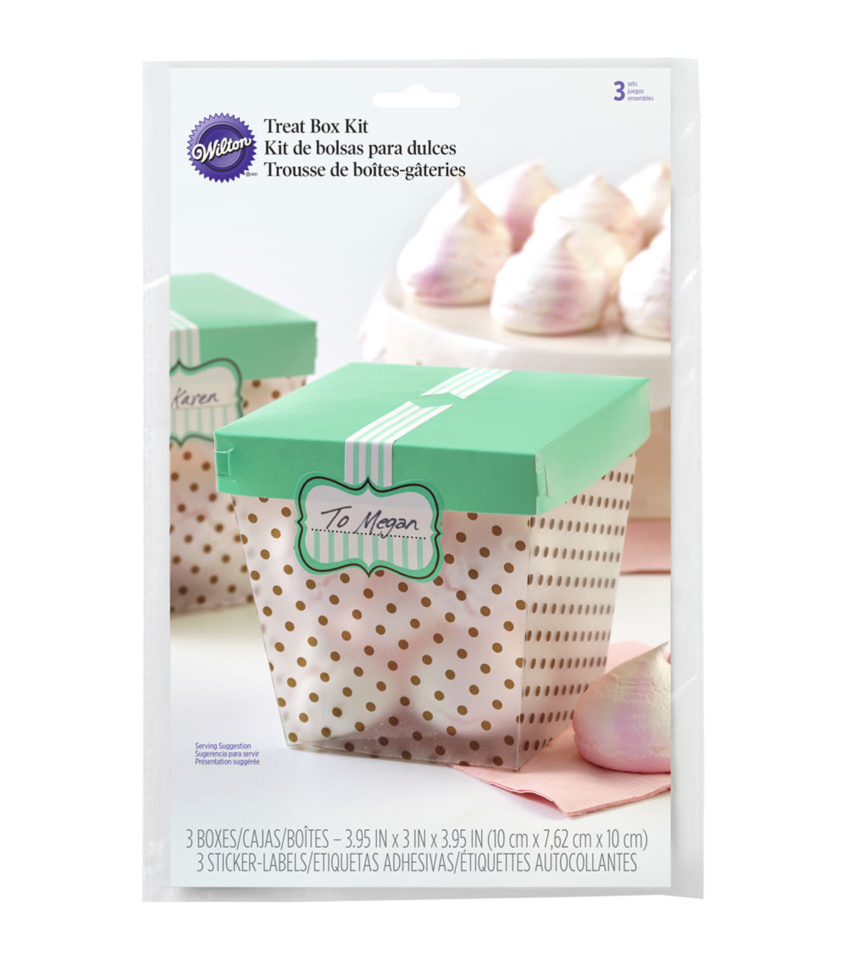Wilton® Teal Blue Treat Boxes 3ct