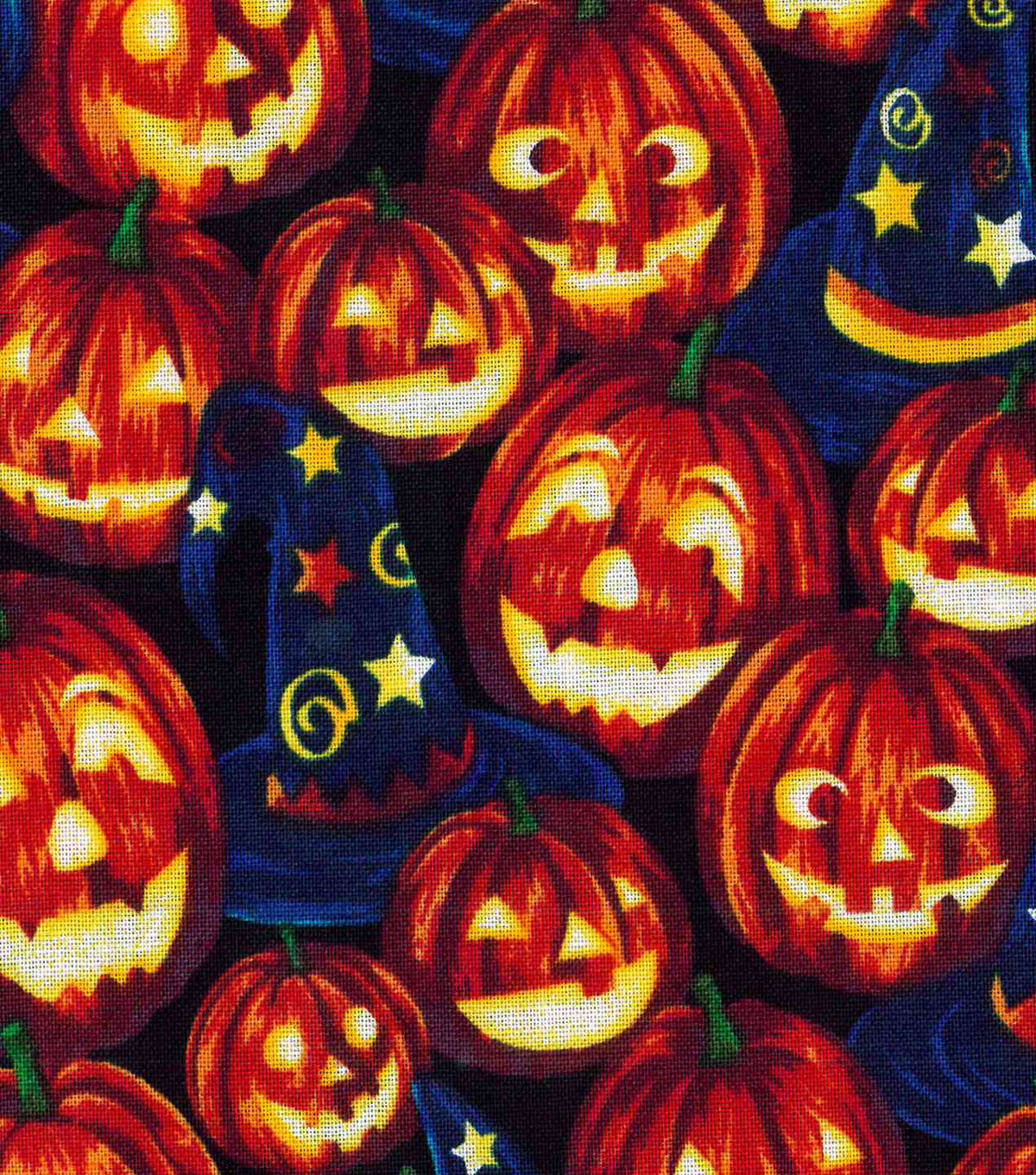 Halloween Cotton Fabric 43\u0022-Wizard Pumpkins