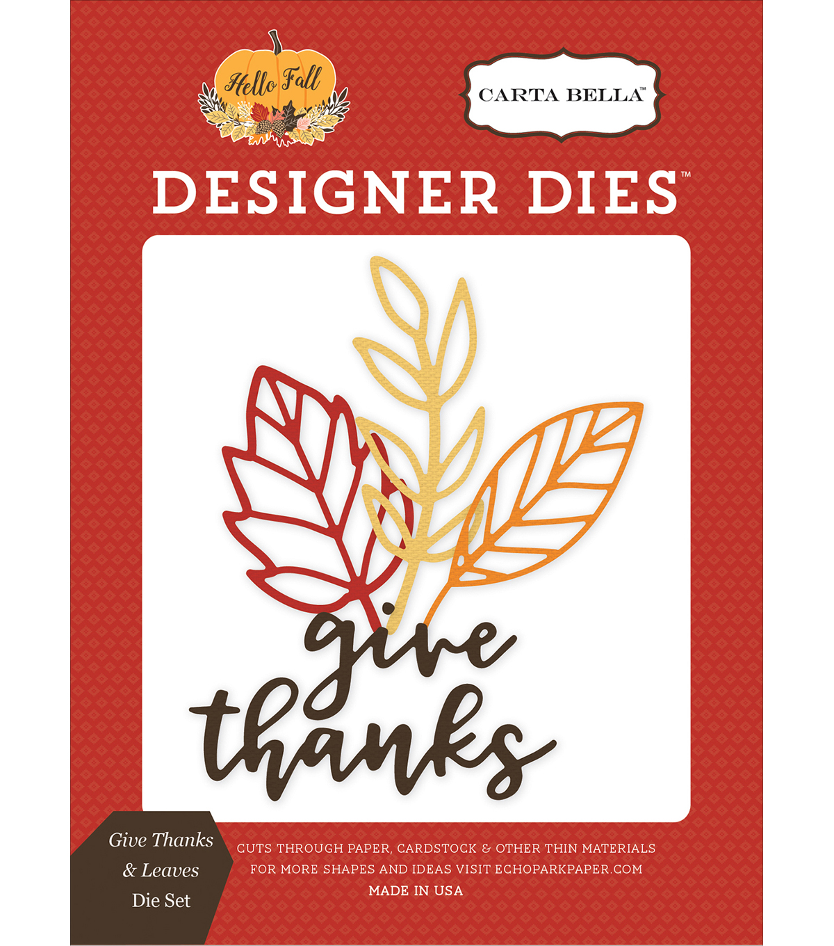 Carta Bella Dies-Give Thanks & Leaves
