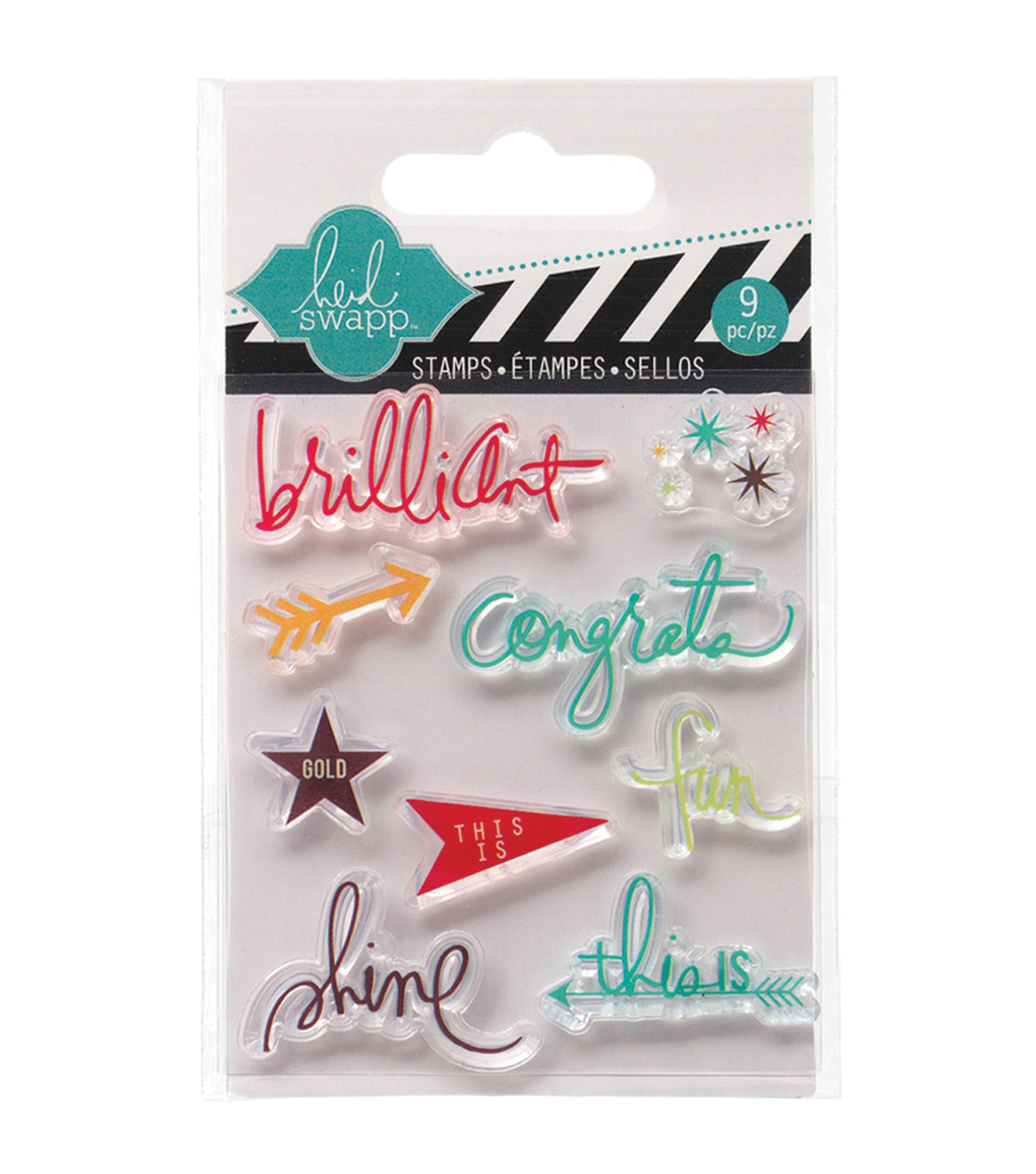 Heidi Swapp Mixed Media Clear Mini Stamps 3\u0022X3.5\u0022-Brilliant