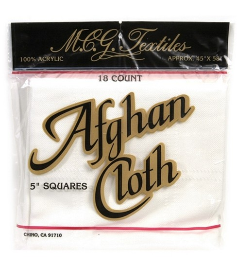 "Afghan Cloth 18 Count 45""X58""-Natural"