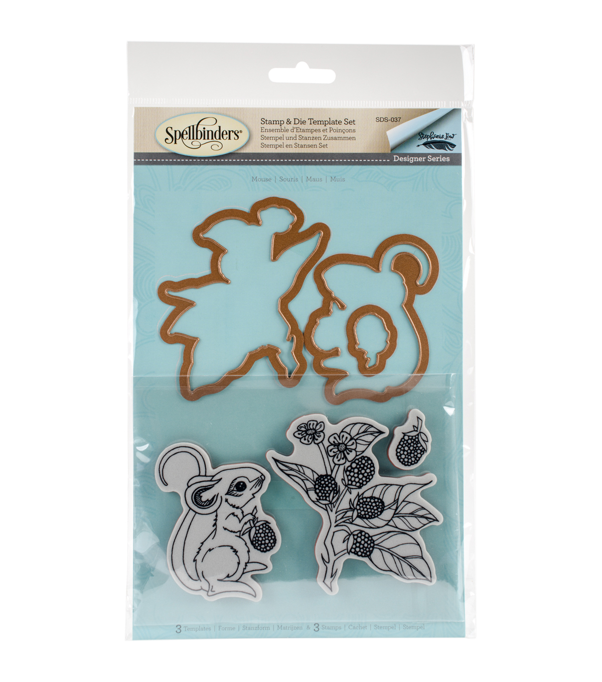 Spellbinders® Earth Air Water Stephanie Low Stamp & Die Set-Mouse