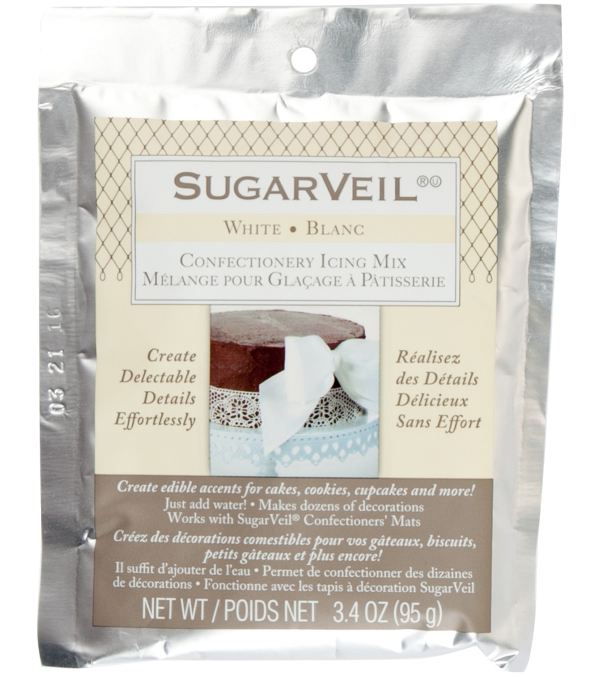 SugarVeil 3.4oz. Confectionery Icing Mix-White