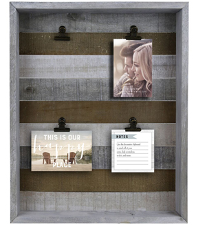 Farmhouse Large Shadowbox with 4 Clips