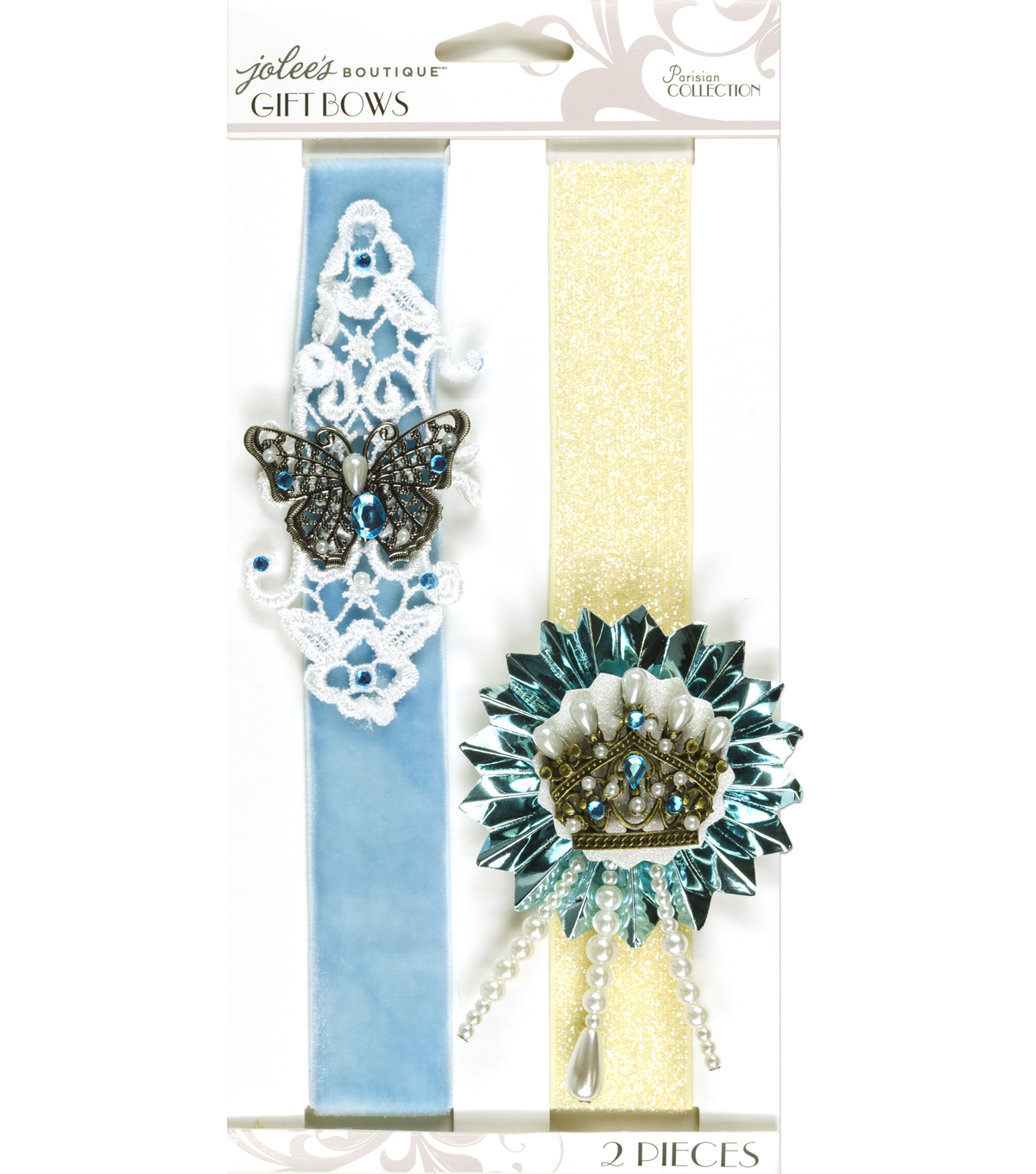 Jolee's Boutique Parisian Soft Blue Embellished Gift Bows