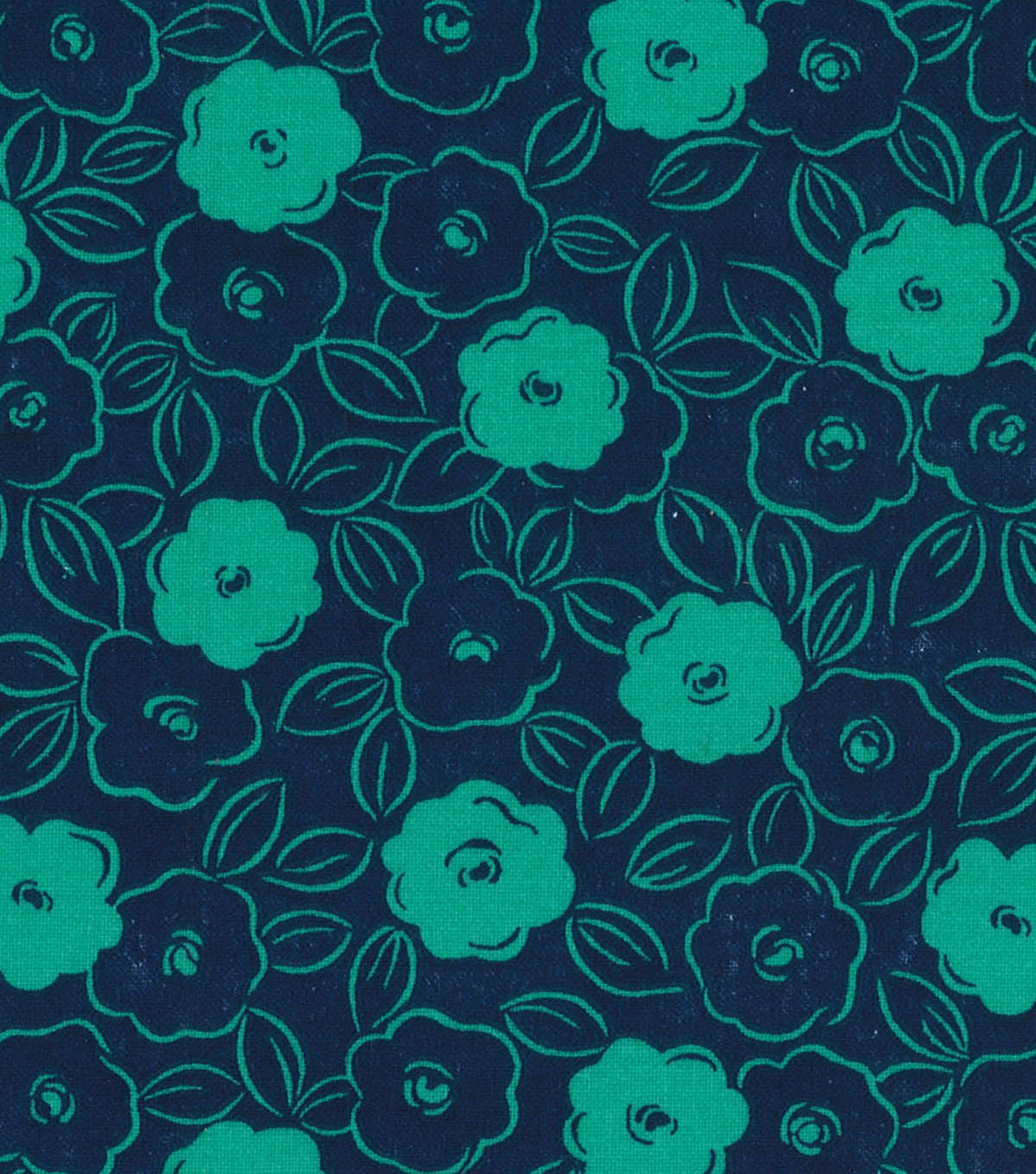Quilter\u0027s Showcase™ Fabric 44\u0027\u0027-Pool Green & Navy Floral