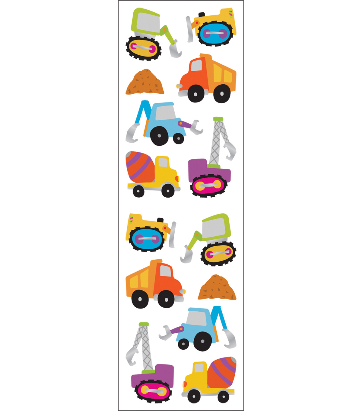 Mrs. Grossman's Stickers-Chubby Construction