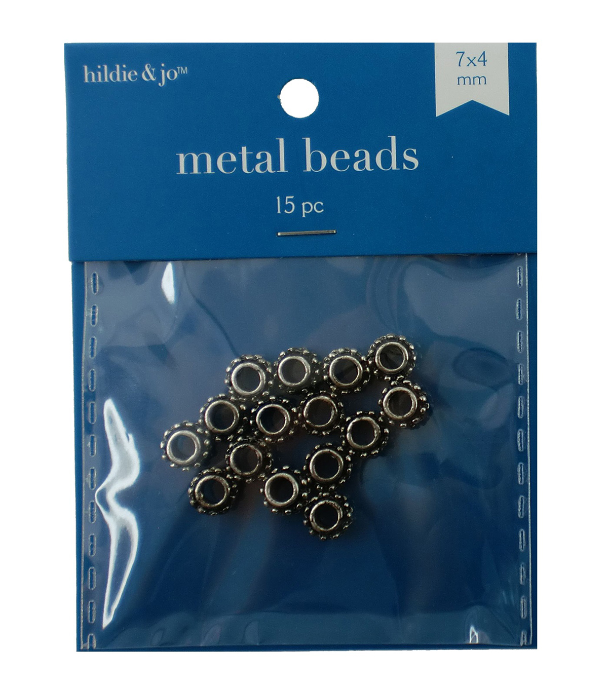 6mm Cast Metal Bump Spacer Beads, Antique Silver