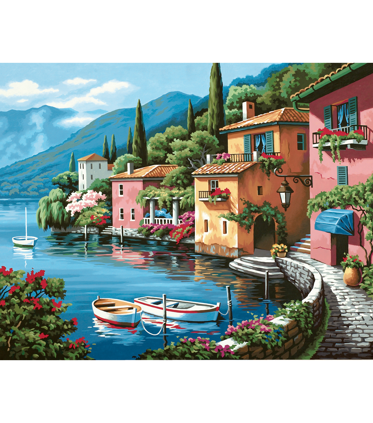"""Dimensions Paint By Number Kit 20""""X16""""-Lakeside Village ... - photo#31"""