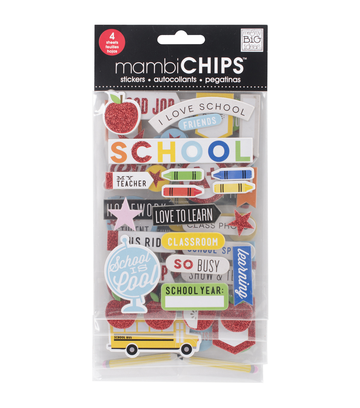 Me & My Big Ideas Mambi Chips I Love School Stickers