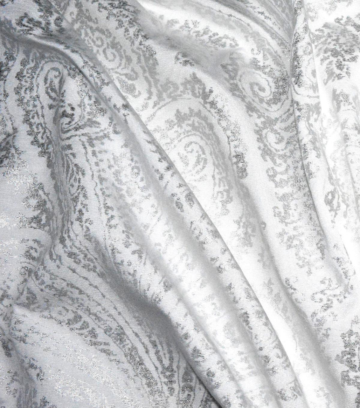 Waverly Upholstery Fabric 54\u0027\u0027-Frost Paisley Aglow