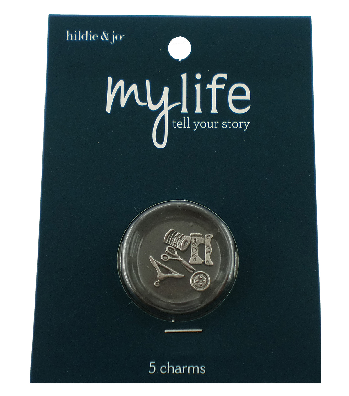 hildie & jo™ My Life 5 Pack Sewing Ant Silver Locket Charms