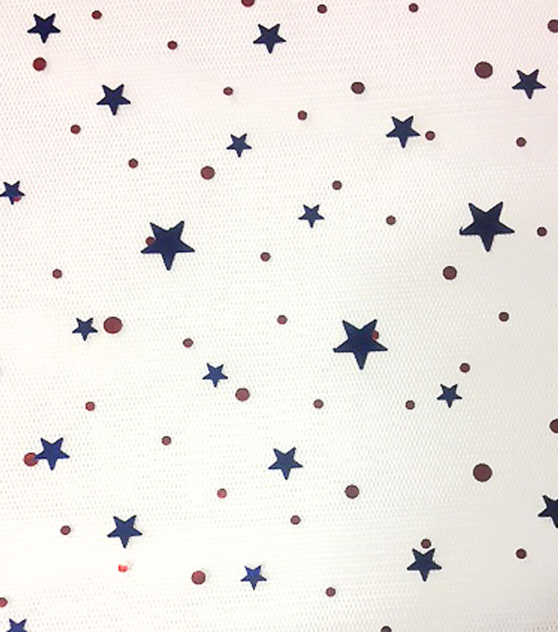 Sew Sweet Collection- Patriotic Mesh With Star Duccos Fabric