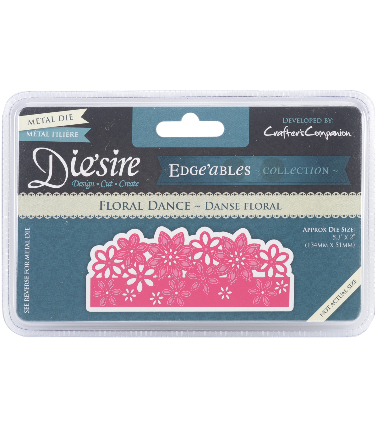 Crafter\u0027s Companion Die\u0027sire Cutting & Embossing Die-Floral Dance