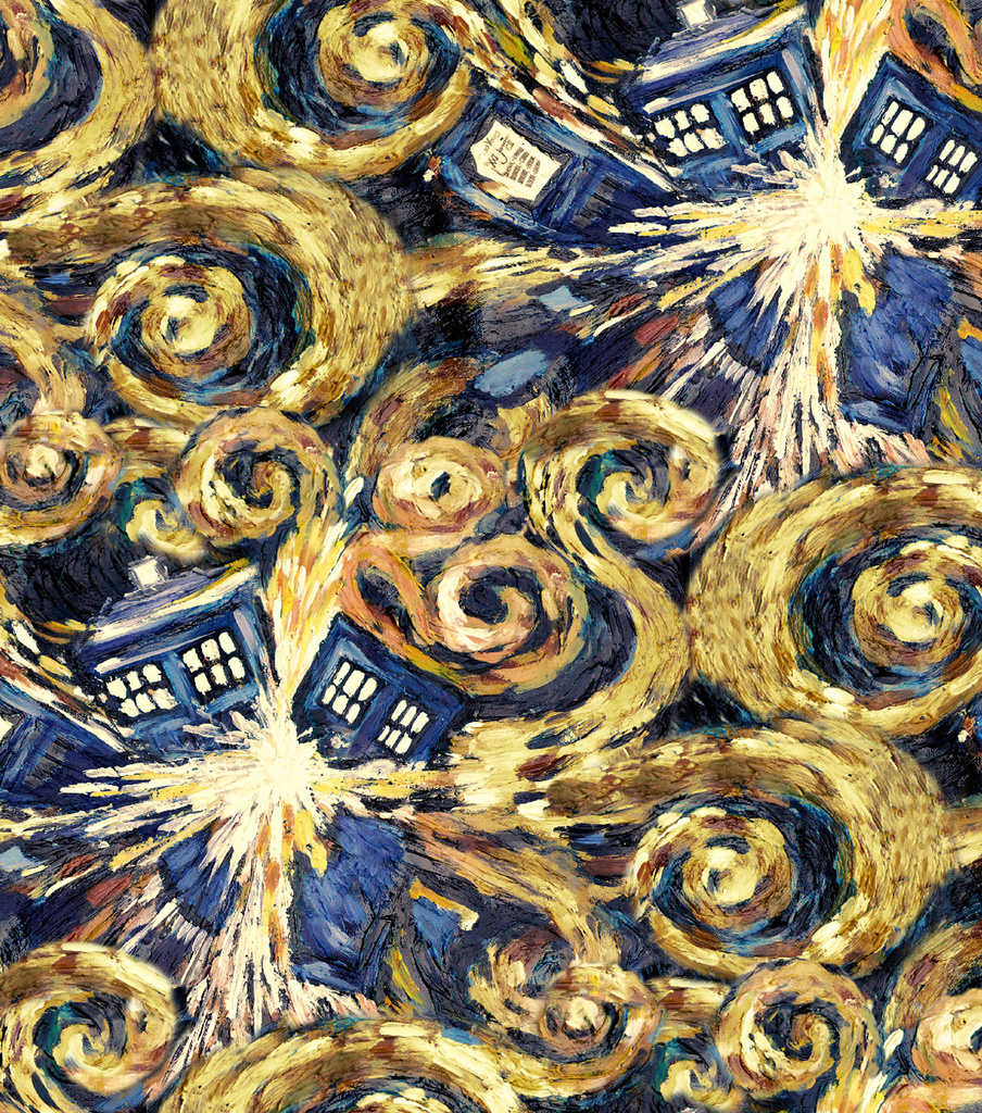Doctor Who Cotton Fabric 43\u0022-Exploding Tardis