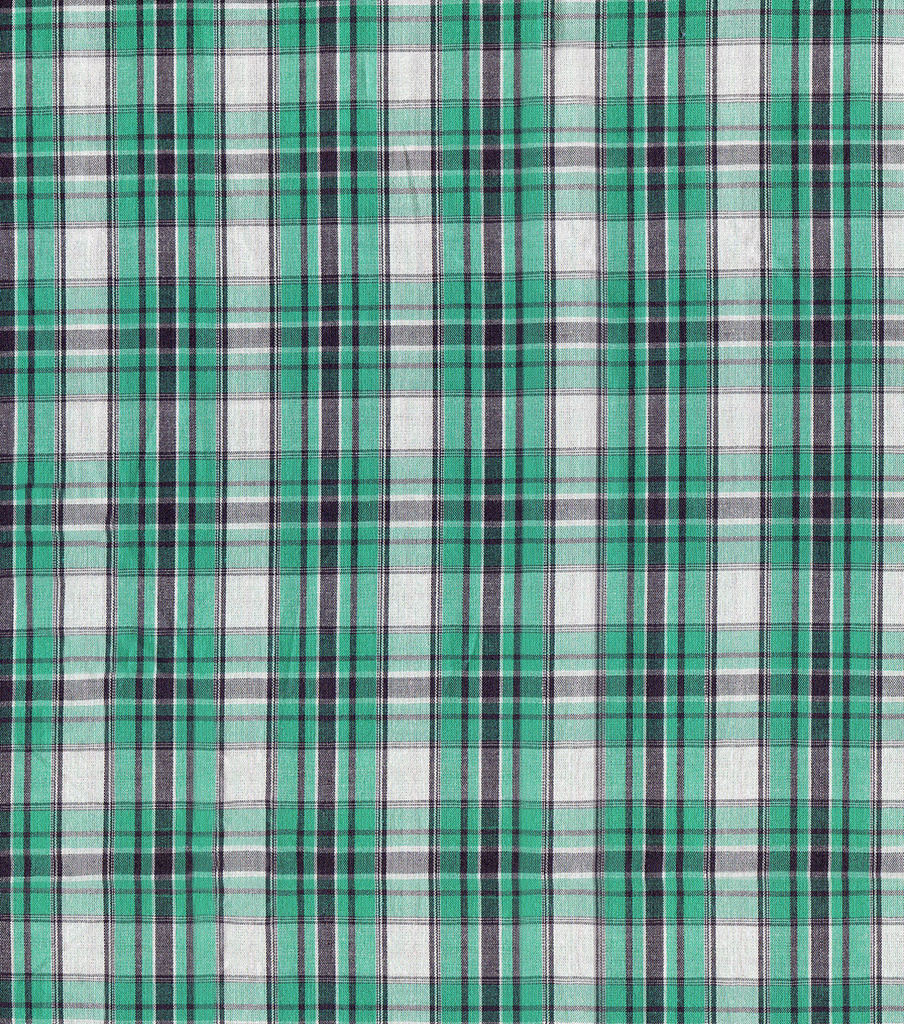 Shirting Fabric 57\u0022-Green Plaid